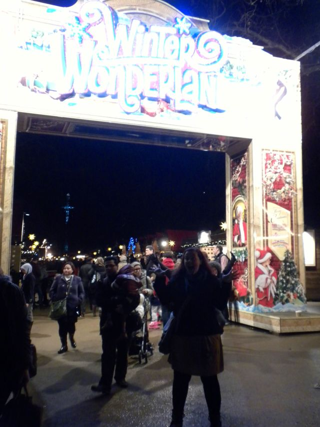 "We then went to Hyde Park where they had set up ""Winter Wonderland""!  I just love Christmas so much!"