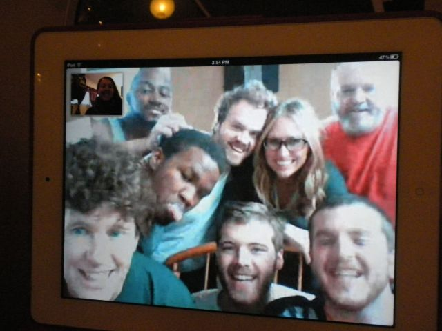 I then got to skype with my entire family while they opened presents.  Best family skype photo ever!