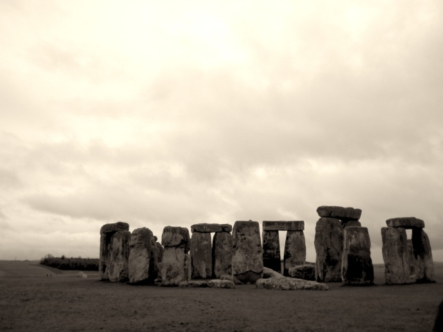 Next stop: Stonehenge.  The cloudy weather just added to its mystical feel.