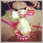 We celebrated team birthdays with Fro-yo.