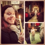 I went to my first Easter vigil at the Cathedral.