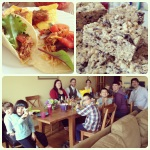 We had a taco fiesta for our team Easter lunch.  The Sherry tradition has now gone international.
