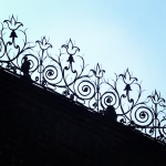 Some of the iron work at the cathedral