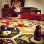 Playing settlers with one of my fav little guys