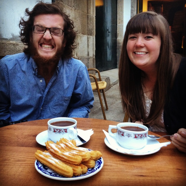 A very fitting last meal in Santiago: Chocolate con Churros